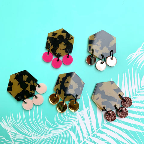 Animalistic Statement Studs ~ MAXI - CHOOSE COLOUR