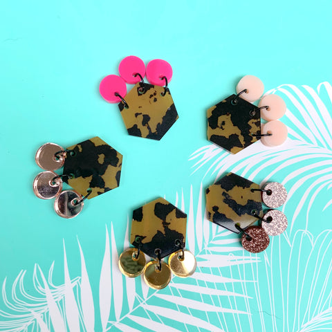 Animalistic Statement Studs ~ MINI - CHOOSE COLOUR