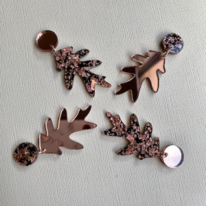 Feuille Dangles (Rose Gold) - CHOOSE FINISH (MADE TO ORDER)