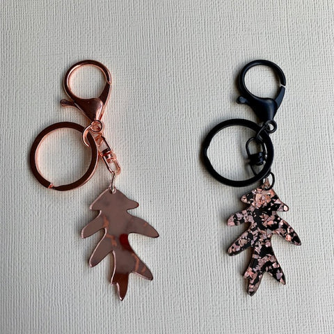 Feuille Keyring (Rose Gold) - CHOOSE COLOUR (MADE TO ORDER)