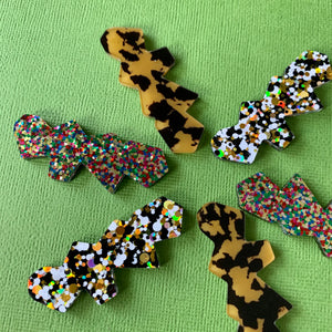 WAVES RECTANGLE HAIR CLIPS - CHOOSE COLOUR
