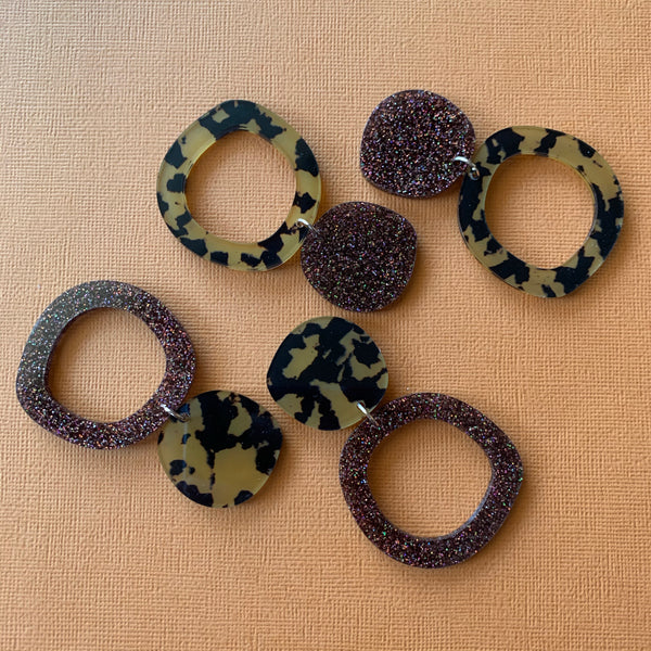 CHUNKY FUNKY LEOPARD HOOPS - CHOOSE COLOUR