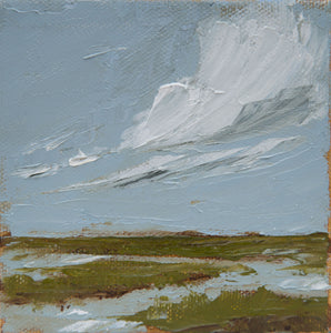 """Windswept"" Framed 4x4 Oil on Canvas"