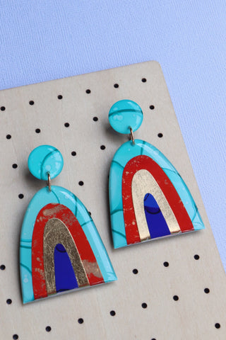 Nile Blue Rainbow Earrings
