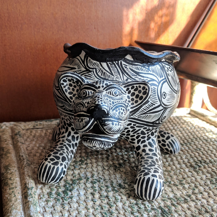 Jaguar Planter Handmade in Mexico
