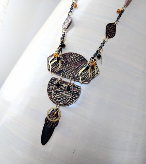 Black and Gold Artsy Necklace