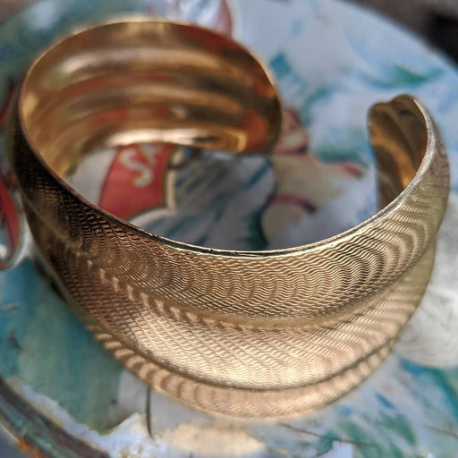 Golden textured cuff