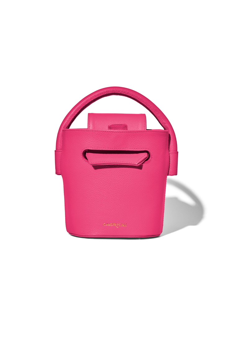 AMERICAE handbags Raspberry The Ellipse Bucket Bag