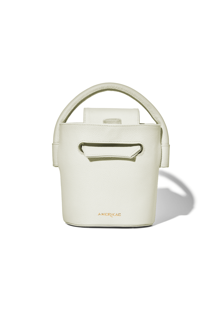 AMERICAE handbags White The Ellipse Bucket Bag