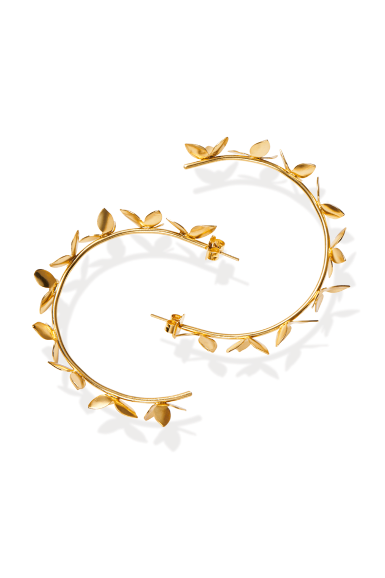 Americae jewelry Gold The Floral Hoop Earrings