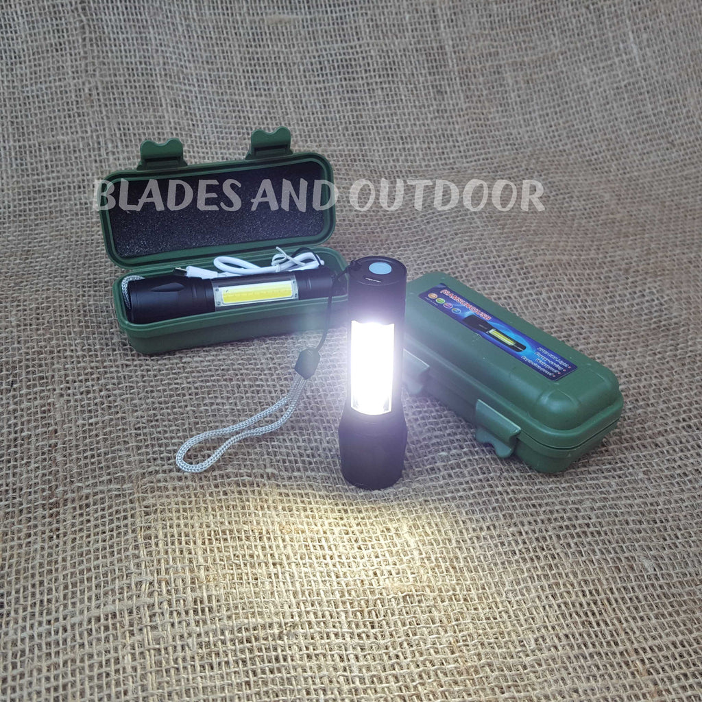 9 cm LED Flashlight + side light