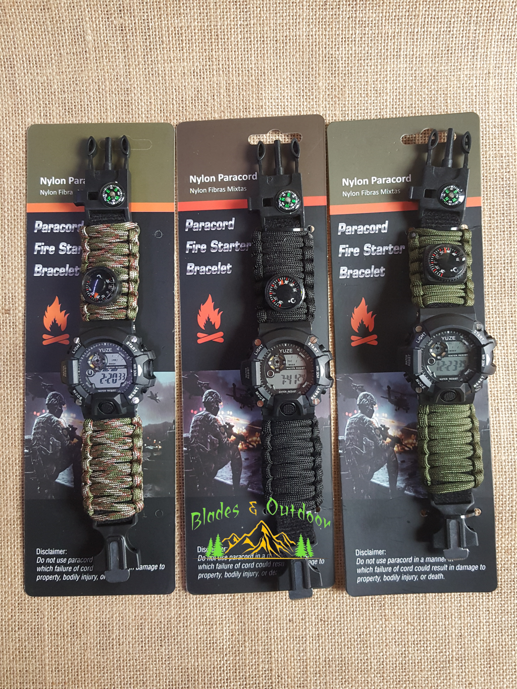 Watch paracord digital ... Water resistant 30 m