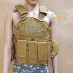Bulletproof vest with attachments - adjustable up to 3XL