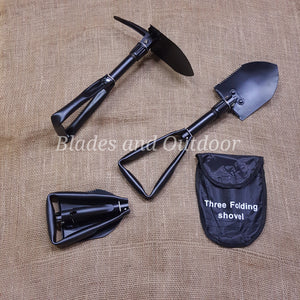 Camping fold up shovel