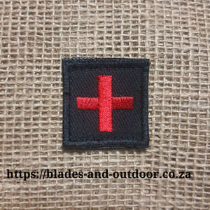 Badge Red Cross with Velcro back