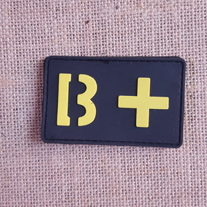 Badge Blood group rubber