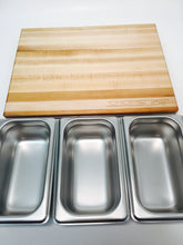 Cutting Board with Stainless Steel Containers - ChopSlide