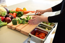 Practical wooden cutting board with containers
