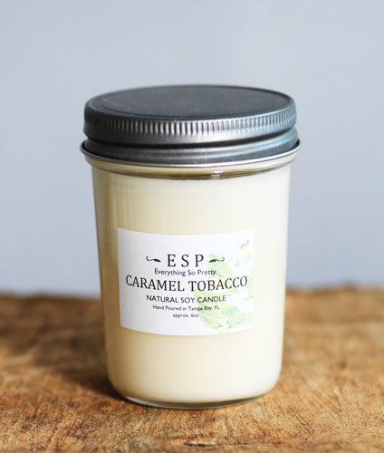 Caramel Tobacco Natural Soy Candle