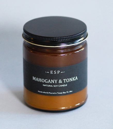 Mahogany Tonka  | Woodsy Natural Soy Candle