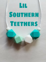 Lil Southern Teethers - Silicone Teething necklaces, teething rings, baby carrier teethers, stroller teethers.