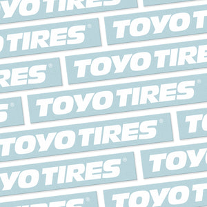 "TOYO TIRES 12"" DIE-CUT"