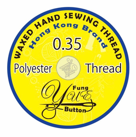 SALE! Waxed Poly Cord Thread - 0.35mm - YUE FUNG BRAND