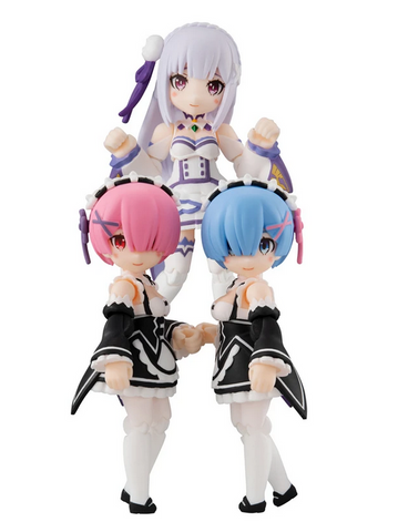Re:Zero -Starting Life in Another World-MEGAHOUSE DESK TOP ARMY (Set of 3 Characters)