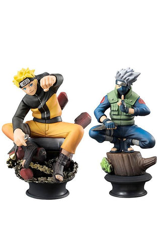 NARUTO CHESSPIECE COLLECTION NARUTO&KAKASHI SET