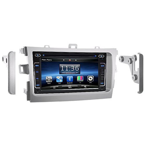 "OTTONAVI Toyota 2009-2013 Corolla Silver OEM Replacement In Dash Double Din 6.2"" LCD Touch Screen GPS Navigation Radio"