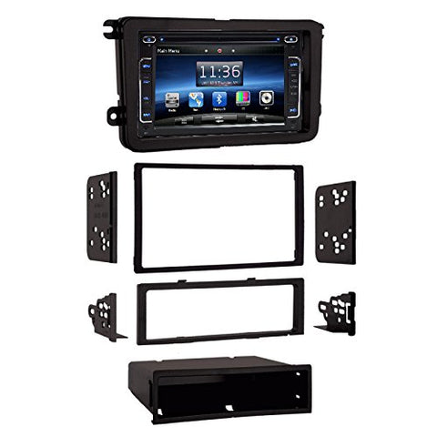 "Volkswagen GLI 2008-2010 OEM Fitment Dash Kit + In Dash Multimedia CD/DVD Player 6.2"" Touch Screen GPS Navigation Radio"
