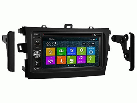 DVD GPS Navigation Multimedia Radio and Dash Kit for 09-13 Toyota Corolla