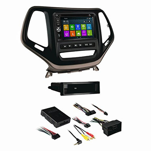 DVD GPS Navigation Multimedia Radio and Dash Kit for Jeep Cherokee 2014-2016