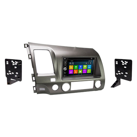 GPS Navigation Radio and Dash Kit for Honda Civic 2006-2011 Taupe