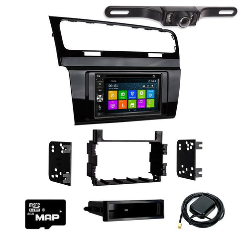 Otto Navi DVD GPS Navigation Multimedia Radio and Dash Kit for Volkswagen Golf 2015-2017