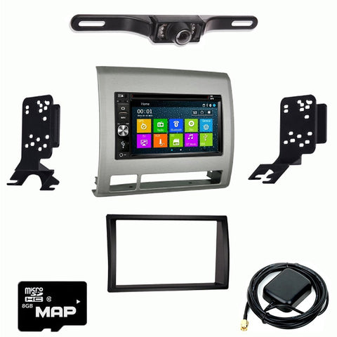 Otto Navi DVD GPS Navigation Multimedia Radio and Dash Kit for Toyota Tacoma 2006-2011 Silver