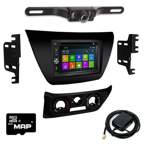 Otto Navi DVD GPS Navigation Multimedia Radio and Dash Kit for Mitsubishi Lancer 2002-2007