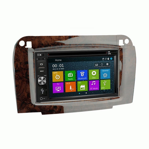 Otto Navi DVD GPS Navigation Multimedia Radio and Dash Kit for Mercedes-Benz CL-Class 2003-2006