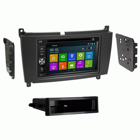 Otto Navi DVD GPS Navigation Multimedia Radio and Dash Kit for Mercedes Benz CLK Class 2005-2009