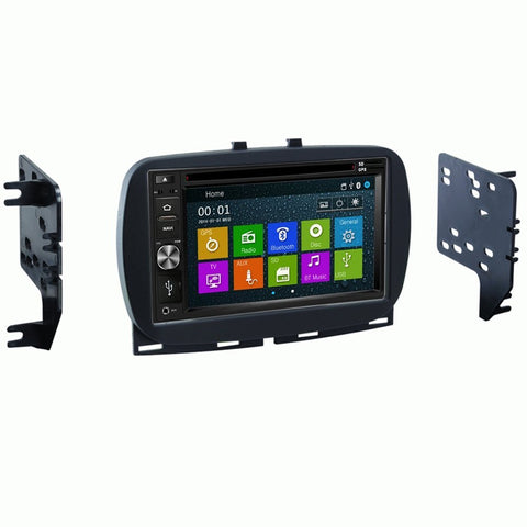 Otto Navi DVD GPS Navigation Multimedia Radio and Dash Kit for Fiat 500 2016 and up