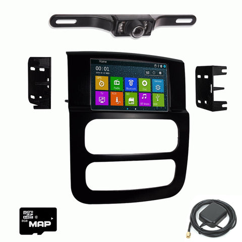 GPS Navigation Multimedia Radio and Dash Kit for Dodge Ram Trucks 2002-2005