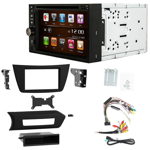 Otto Navi S-Series DVD GPS Navigation Multimedia Radio and Dash Kit for Mercedes-Benz C-Class 2012-2015