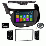 DVD GPS Navigation Multimedia Radio and Dash Kit for Honda Fit 2009-2013