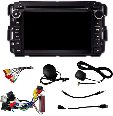 "Double-DIN GPS 7"" Touchscreen Plug and Play Radio for 2007-2013 GMC/Chevrolet/Buick"