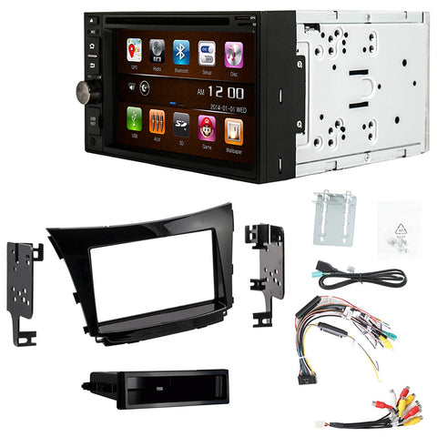 Otto Navi S-Series DVD GPS Navigation Multimedia Radio and Dash Kit for Hyundai Elantra GT 2016-2017 (with factory navigation)