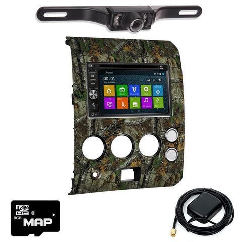 Otto Navi DVD GPS Navigation Multimedia Radio and Dash Kit for Nissan Titan 2004-2007 Realtree