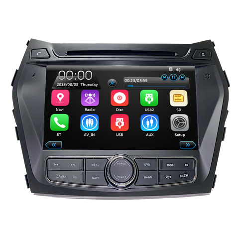 "8"" GPS DVD Touchscreen Multimedia Radio for Hyundai Santa Fe 2013-2018"