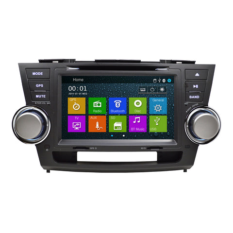 "8"" Inch GPS Navigation Radio for Toyota Highlander 2008 - 2012"