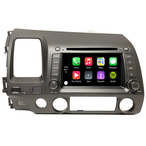 "6.5"" GPS DVD Bluetooth Plug and Play Radio for Honda Civic 2006-2011 Taupe Color"