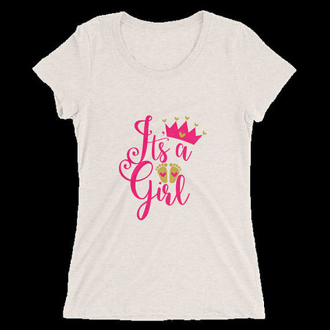 Women's It's a Girl T-Shirt - Its a Girl - Its a - UrBasicneeds